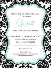 Product Image For Darling Damask Invitation